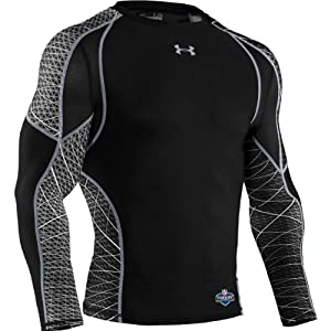 Under Armour Herren T-Shirt Ca Warp Speed Long Sleeve, schwarz (blk/blk), XL, 1234465
