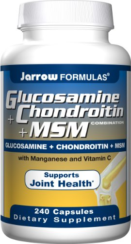 Jarrow Formulas Glucosamine and Chondroitin and MSM, 240 Capsules