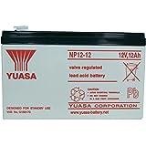 Yuasa NP12-12 12 Volt 12 AmpH SLA Replacement Battery with F2 Terminal