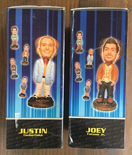 Collectible Rockin' Bobbles Bundle: Justin Timberlake and Joey Fatone Jr. (Walter The Puppet)