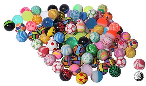Bouncy Balls Assortment - 100-piece Colorful Bouncing Balls Bulk, 1.3 inches by Juvale (Super Bounce Ball Kit compare prices)