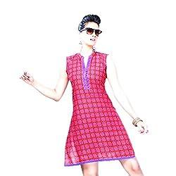 Kaya Women's Cotton Kurti (005KUCO002_Multi-Coloured_X-Large)