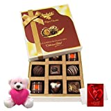 Valentine Chocholik Premium Gifts - Impressive Choco Treat Of Delightful Chocolates With Teddy And Love Card