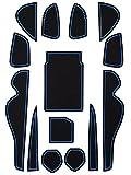 トヨタ 60系 ハリアー 専用設計 ゴム ラバー ポケットマット ブルー 14点セット 傷 異音防止