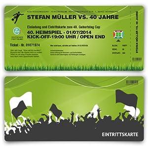 zum Geburtstag (30 Stück) als Fussballticket Karte Ticket Fussball ...