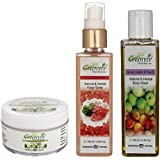 Greenviv Natural Combo Of Aloe-Vera & Chamomile Baby Balm (50 Gm), Rose & Geranium Face Toner (100 Ml) With Green...