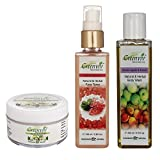 Greenviv Natural Combo of Aloe-Vera & Chamomile Baby Balm (50 gm), Rose & Geranium Face Toner (100 ml) With Green Apple & Peach Body Wash (200 ml)