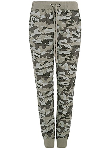 oodji Ultra Donna Pantaloni in Maglia Stile Militare, Verde, IT 40 / EU 36 / XS
