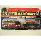Die-cast Metal & Plastic Train Set ~ Black And Red Engine, Brown Coal Truck