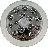 ADX 15LEDPIR-WH 140-Degree 12 Meter Security PIR Infrared Motion Sensor Detector Wall Light Outdoor, White