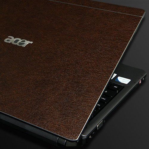 ACER Aspire Timeline 3810TZ Laptop Cover Skin [Brown Leather]