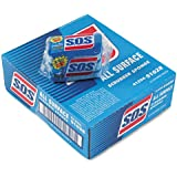 "S.O.S. All-Surface Scrubbing Sponge, 3 x 5-1/4, 1"" Thick, Blue - eight packs of three sponges each."
