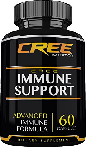 CREE Nutrition Immune Support - Advanced and Complete Herbal Boosting Formula and Wellness Supplement, 60 Capsules - Made in the USA (Advanced Nutrition Systems compare prices)