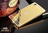 Goon Shopping High Quality Luxury Mirror Back Case Cover With Metal Bumper For Vivo Y15-Gold