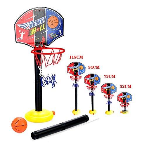 OurKosmos® regolabile Bambini Bambini Junior Basket cerchio e palla stand pompa Backboard Set Indoor e Outdoor Fun Ball Giocattoli Attività per 3-7 anni i ragazzi più grandi gioco di