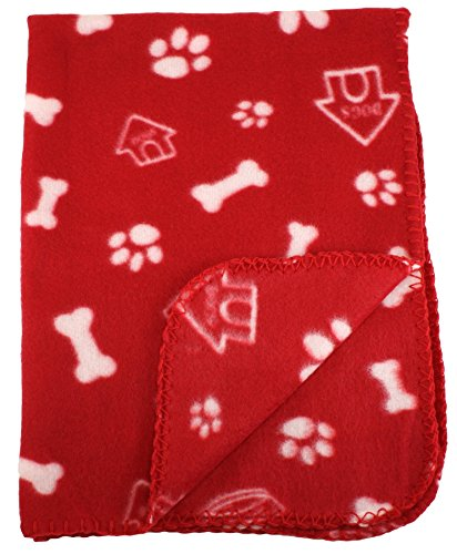 30x21-inch-dog-cat-fleece-blanket-bone-and-paw-print-assorted-color-pet-blankets-by-bogo-brands-red