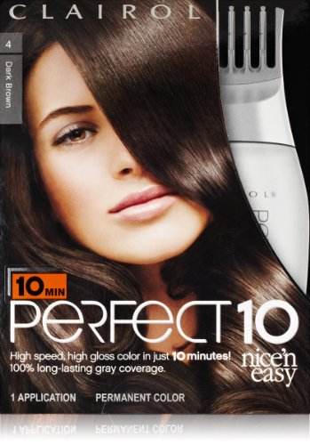 Clairol Perfect 10 By Nice 'N Easy Hair Color 004 Dark Brown 1 Kit (Pack Of 2) front-780527