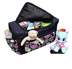 Baby-Joy TK-01 KIM Bolso cambiador de pañales para bebé, tamaño extragrande XXXL, color negro
