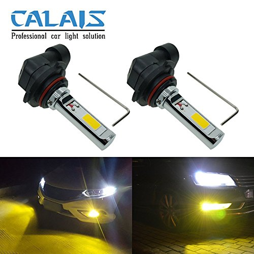 Calais Extremely Bright Golden Color COB Chips H10 9140 9145 30W LED Fog Light Bulbs Plug-n-Play(pack of 2) (Led Fog Light Bulb 9140 compare prices)