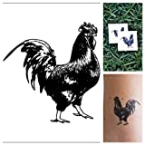 Tattify Rooster Temporary Tattoo - Cock Solid (Set of 2)