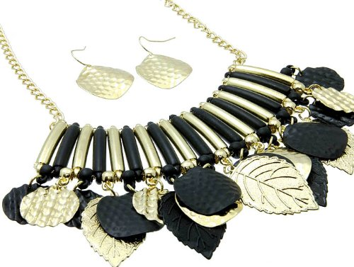 NECKLACE AND EARRING SET METAL METAL CASTING BLACK Fashion Jewelry Costume Jewelry fashion accessory Beautiful Charms
