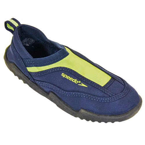 Speedo Sandseeker Boys Aqua Water Shoes Beach Wetsuit Wet Sandals - Blue