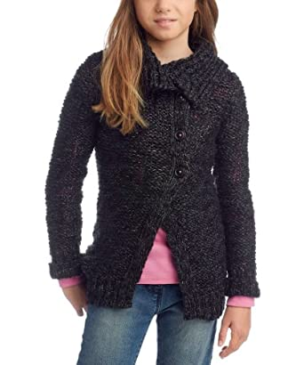 ESPRIT Pull Col mao Manches longues Fille - Multicolore - FR : 10 ans (Taille fabricant : 140/146)