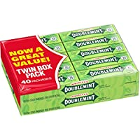 40 Packs- Wrigley's Doublemint Chewing Gum 5-Piece