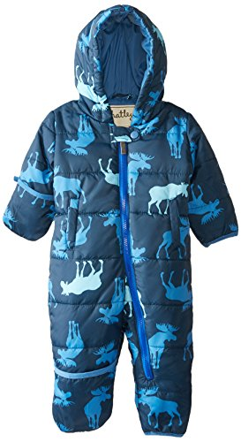 Hatley Baby-Boys Infant Winter Puffer - Blue Moose, Blue, 12-18 Months front-1078902