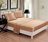 Honeymoon 4PC bed sheet set,, Gold, Queen