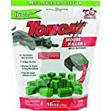 Motomco 22486 Tomcat Refillable Tier 1 Mouse Bait Station, 1-Ounce, 16-Pack