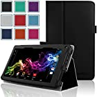 RCA 7 Voyager Case - HOTCOOL Slim Classic PU Leather Folio Case For RCA 7 Voyager Tablet 8GB Quad Core Tablet, Black