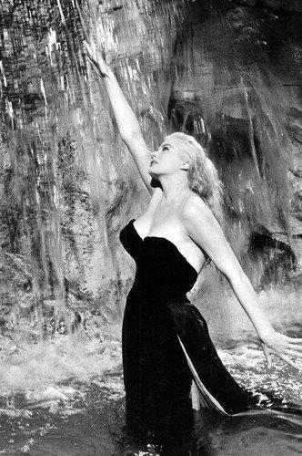 Anita Ekberg In La Dolce Vita 24X36 Poster Trevi Fountain Classic