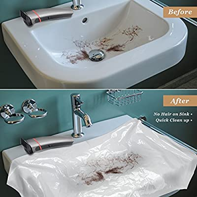 AtHomeBarber® Disposable Plastic Sink Covers for Easy Clean Up When Cutting Hair Over the Bathroom Sink