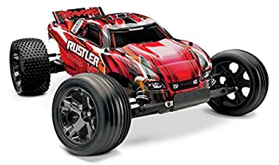 Traxxas 37076-1 Rustler VXL: Stadium Truck, Ready-To-Race (1/10 Scale), Colors May Vary