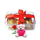Surprise Your Love One WithYummy Chocolates With Teddy And Rose - Chocholik Luxury Chocolates