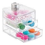 mDesign Badezimmer Waschtisch-Organizer für Pflege- und Gesundheitsprodukte