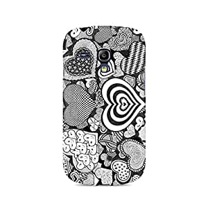 Ebby Heart Doodle Premium Printed Case For Samsung S3 Mini 8190