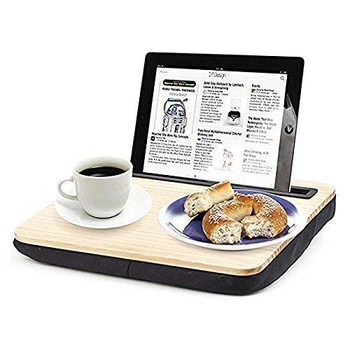iBed-Schreibtisch-iPad-Tablette-Scho-Kissen-hlzern