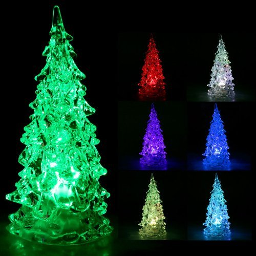 Skydeo Colorful Mini Cute Led Christmas Tree Christmas Decoration Night Light