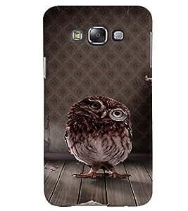 Fuson Premium Cute Little Owl Printed Hard Plastic Back Case Cover for Samsung Galaxy Grand 3 G7200