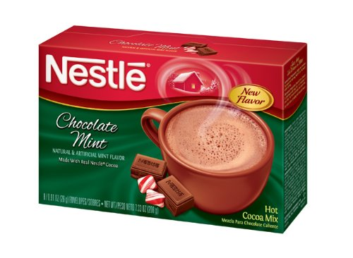 Nestle Hot Cocoa Mix, Chocolate Mint, 8-Count, 0.91-Ounces Envelopes (Pack of 12)