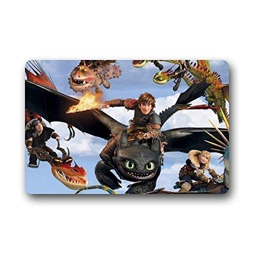 Door Mats Custom How To Train Your Dragon Non Slip Indoor/Outdoor Doormats Kitchen Decor Floor Mats Rugs 23.6 X 15.7 Inches