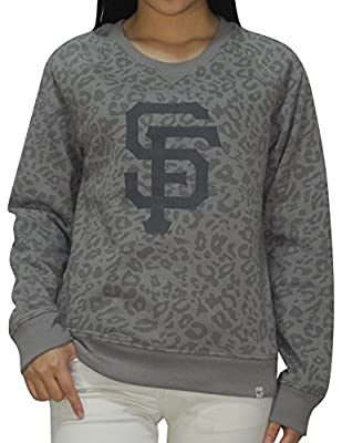 SAN FRANCISCO GIANTS MLB Womens Athletic Pullover Thermal Sweatshirt