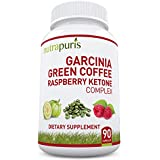 BEST '3-IN-1' Garcinia Cambogia, Green Coffee Bean & Raspberry Ketones Extract 90 Count - A Fresh, Premium Formula, All Natural Supplement That Supports Fat Burn, Health And Weight Loss - Recommended As A Perfect Way To Cleanse, Diet And Slim Fast - 90 Ultra Convenient 1300mg Max Pure Capsules - Better Than Liquid Or Drops With No Harmful Side Effects - Plus 100% Lifetime Happiness Guarantee!