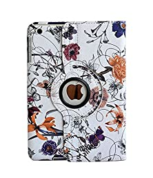 buy Inshang Ipad Mini Case Cover Stand, Novelty Flower Pattern With Automatic Wake / Sleep, 360 Degree Rotating Case