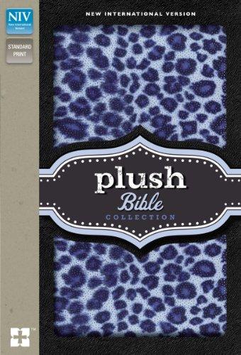 Pluesch Sammlung der Bibel: NIV-Blue Sparkle-Leopard