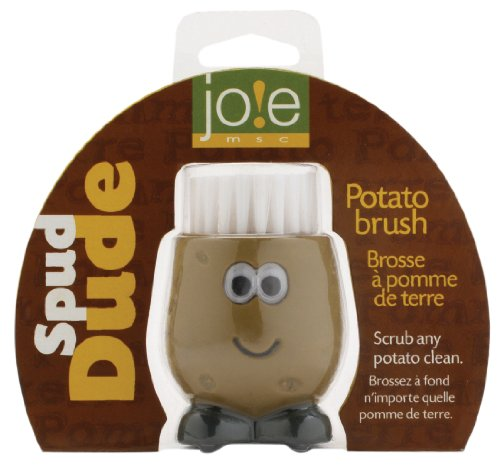 Joie Spud Dude Potato Brush, Brown/ Black