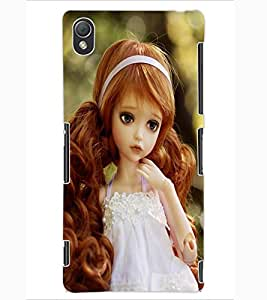 ColourCraft Lovely Doll Design Back Case Cover for SONY XPERIA Z3