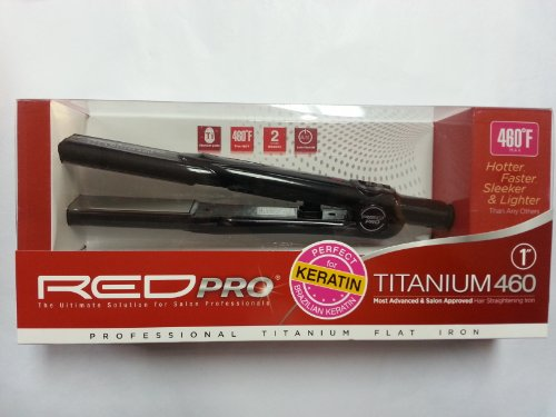 Red Pro Titanium 460 Flat Iron 1 Inch (Red Flat Irons By Kiss compare prices)